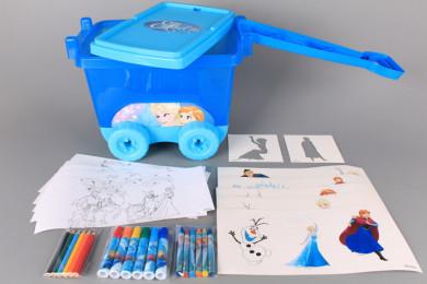 Рисувателен комплект в количка FROZEN