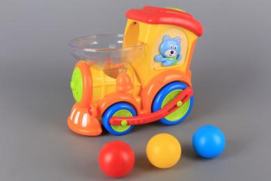 Забавен локомотив с топки