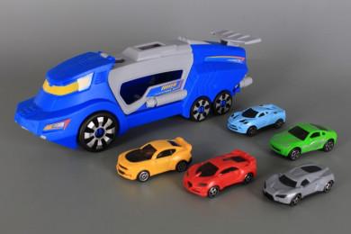 Кола-катапулт и 5 автомобила