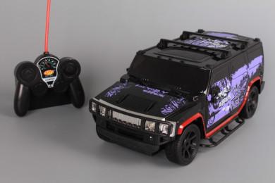 Радиоуправляем джип със светещи фарове и стопове и зареждащи се батерии