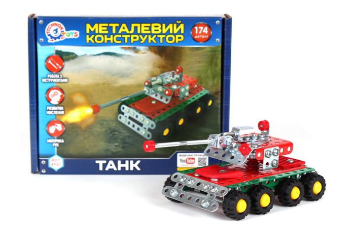Метален конструктор Танк
