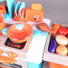 Кухня със светещи котлони и реалистични звуци - 87см