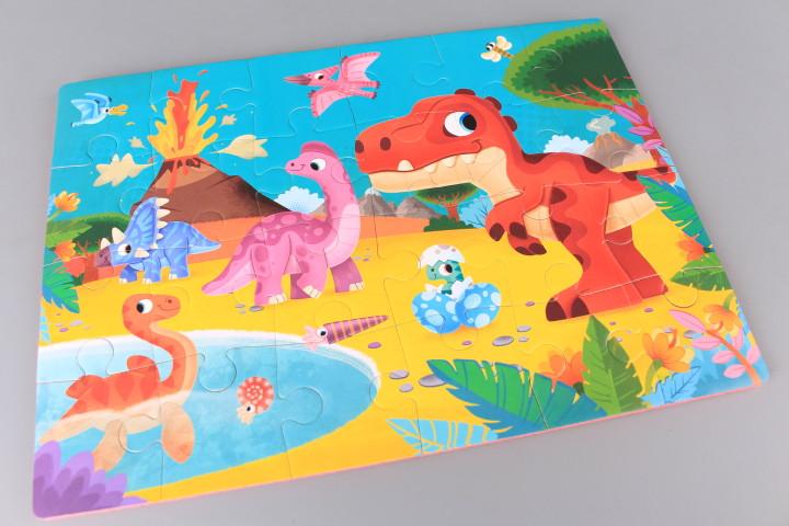 Гумен пъзел Динозаври - 24 елемента