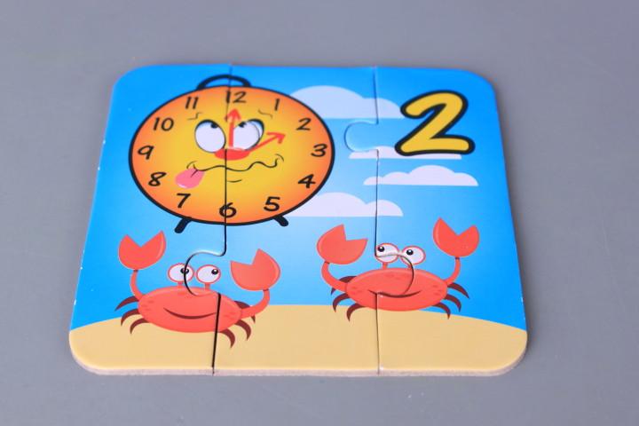Забавен пъзел-числа и часовник