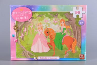 Пъзел Принцеси и пеперуди - 99 ел.