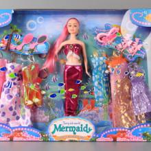 Кукла Русалка и 6 рокли