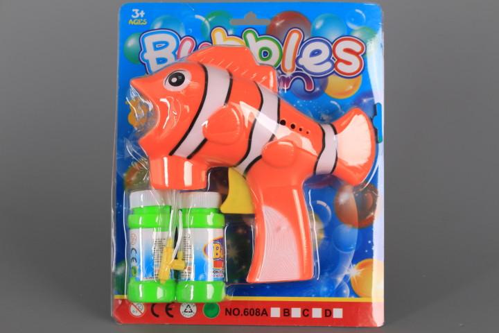 Пистолет за сапунени мехурчета Рибка с два пълнителя