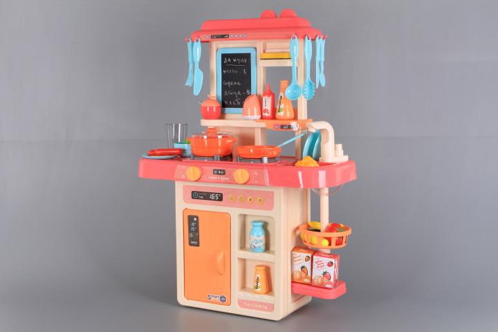 Кухня със светещи котлони, реалистични звуци, пара и течаща вода-63 см