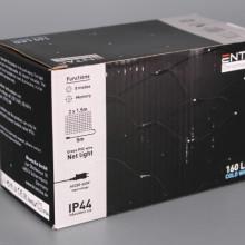 Коледни 160 LED COLD WHITE лампички мрежа - 2 * 1.5 м.