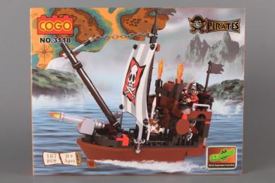 Конструктор Пиратски кораб - 167 ел.