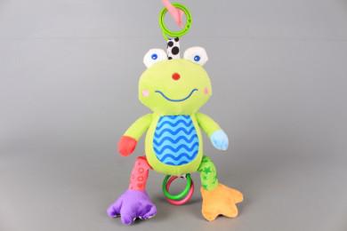 Плюшена жабка за количка