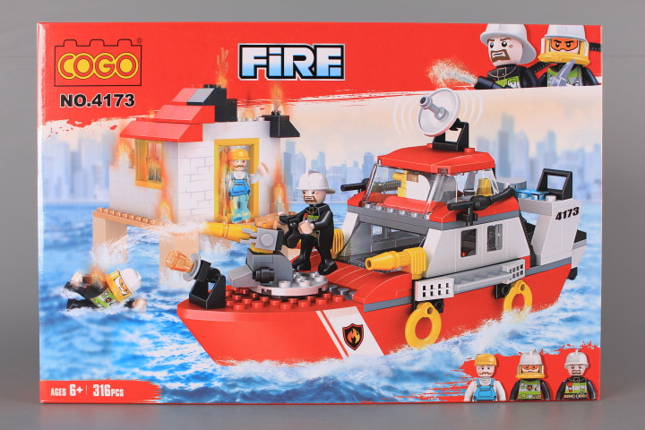 Конструктор Пожарен кораб-316 ел.