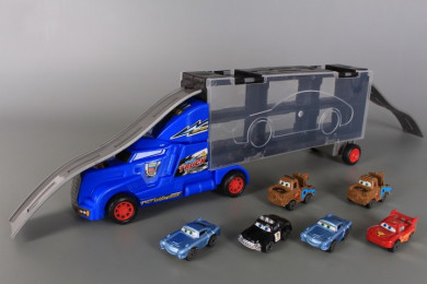 Камион-писта и 6 коли