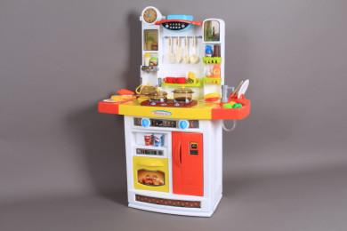 К-т Кухня със светещи котлони, мивка с течаща вода и абсорбатор-95 см