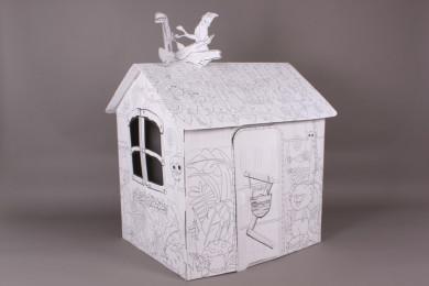 3D Къща за оцветяване-78*63*88 см