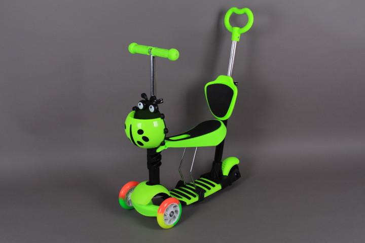 Тротинетка със седалка, светещи гуми и родителски контрол-5 в 1