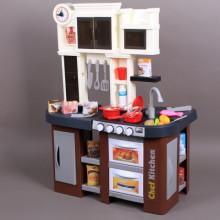 Кухня със светещи керамични котлони, реалистични звуци и мивка с течаща вода-84 см