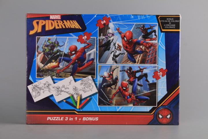 Пъзел 3 в 1 - SPIDER-MAN