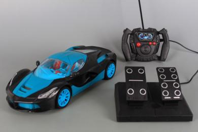 Радиоуправляема кола с волан, педали и зареждащи се батерии
