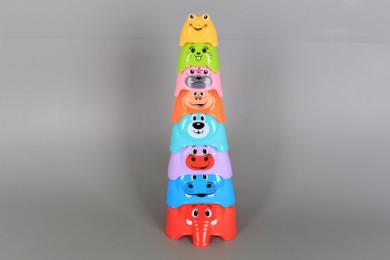Занимателна кула от формички-животинки