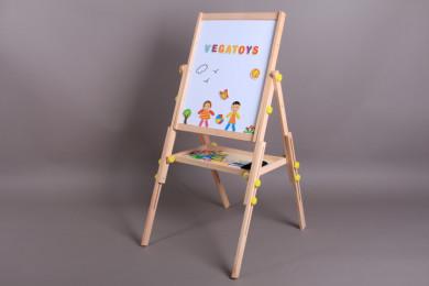 Дървена ученическа дъска за писане и рисуване-108 см