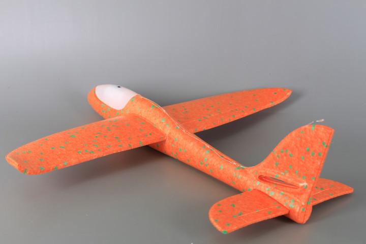Светещ стиропорен самолет за хвърляне-48 см