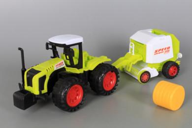 Трактор с балировачка-фрикционен