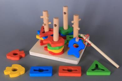 Дървен сортер-пъзел