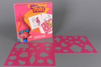 Книжка за оцветяване със шаблони - TROLLS