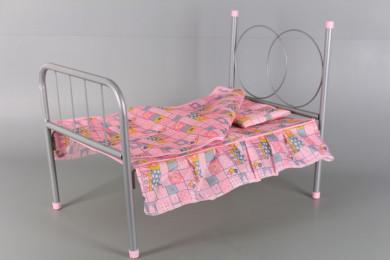 Легло за кукла-метално
