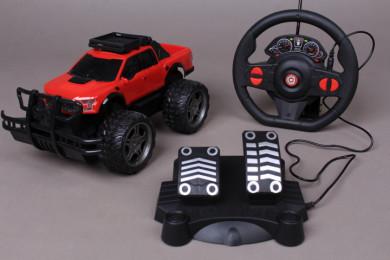 Радиоуправляем джип с волан и педали