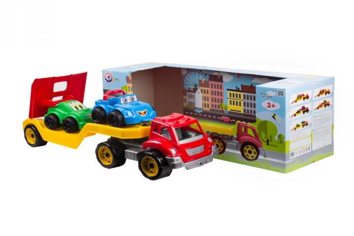 Автовоз с две коли