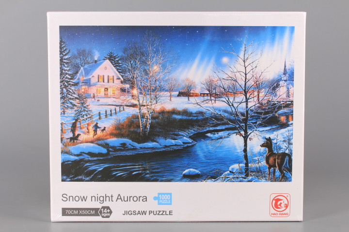 Пъзел Snow night Aurora - 1000 ел.