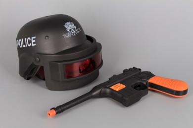 Полицейски комплект с пистолет и каска