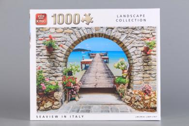 Пъзел Морски изглед в Италия - 1000 ел.