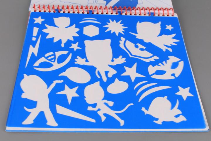 Книжка с шаблони и стикери PJ MASKS