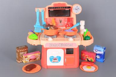 Кухня със светещи котлони, реалистични звуци и течаща вода-30 см