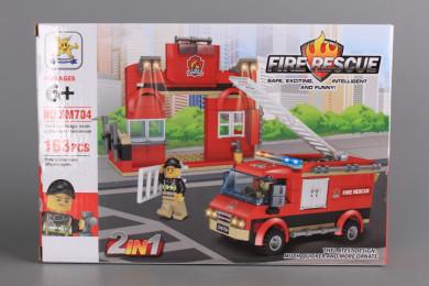 Конструктор Пожарна - 2 в 1-163 ел.