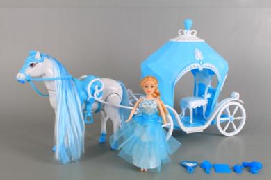 Каляска с конче и кукла