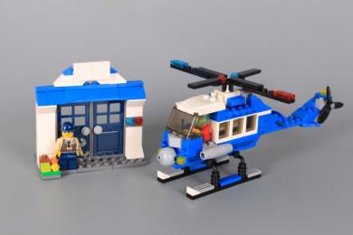 Конструктор Полицейски хеликоптер 2 в 1-215 елемента