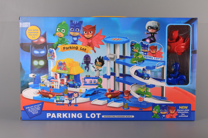 К-т Паркинг на три етажа с елеватор и герои с маски