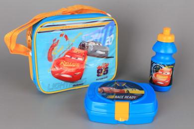 Комплект чанта, кутия за храна и бутилка - CARS