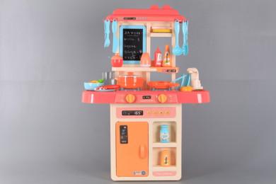 Кухня със светещи котлони, реалистични звуци и течаща вода-63 см