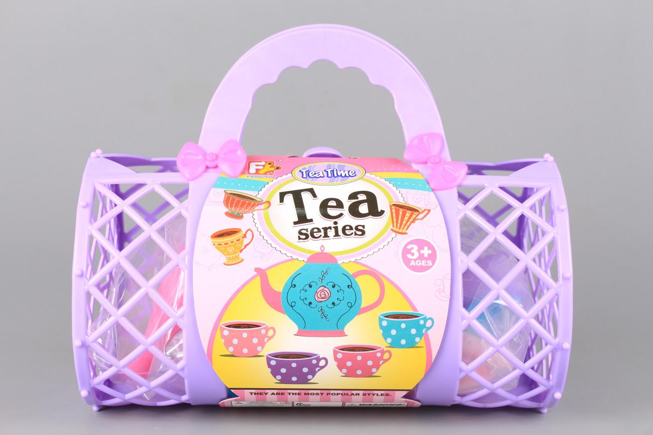 Чаен сервиз в кошница