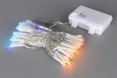 Коледни 96 LED цветни лампички с таймер - 7 m