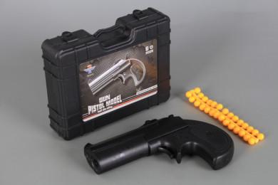 Метален пистолет с меки куршуми в куфарче