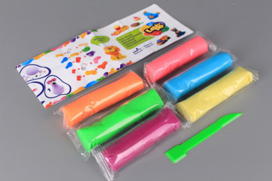 Пластилин неон - 6 цвята