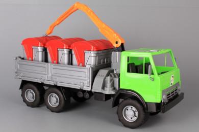 Сметовоз с три контейнера-47 см.