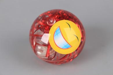 Светещо подскачащо топче Емотикон-5.5 см.
