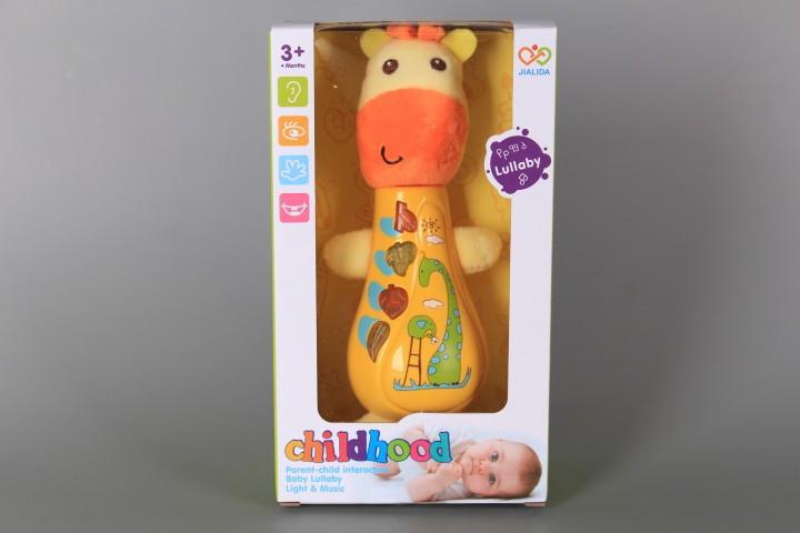 Музикално жирафче със светещи бутони